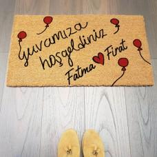 Balon ve Kalpler Kapı Önü Paspası