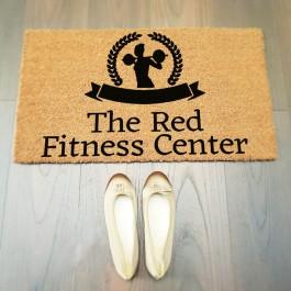 Fitness Center Yazılı Paspas