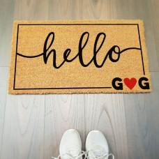 Hello Harfli Kapı Önü Paspası