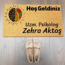 Logo Tasarımlı Psikolog Kapı Paspası