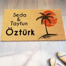 Palmiye Ağacı Kişiye Özel Paspas