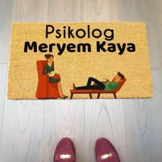 Psikolog Kişiye Özel Kapı Paspası