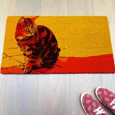 Renkli Kedi Tasarımlı Paspas