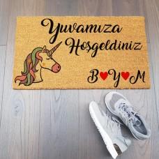 Unicorn Tasarımlı Hediyelik Paspas